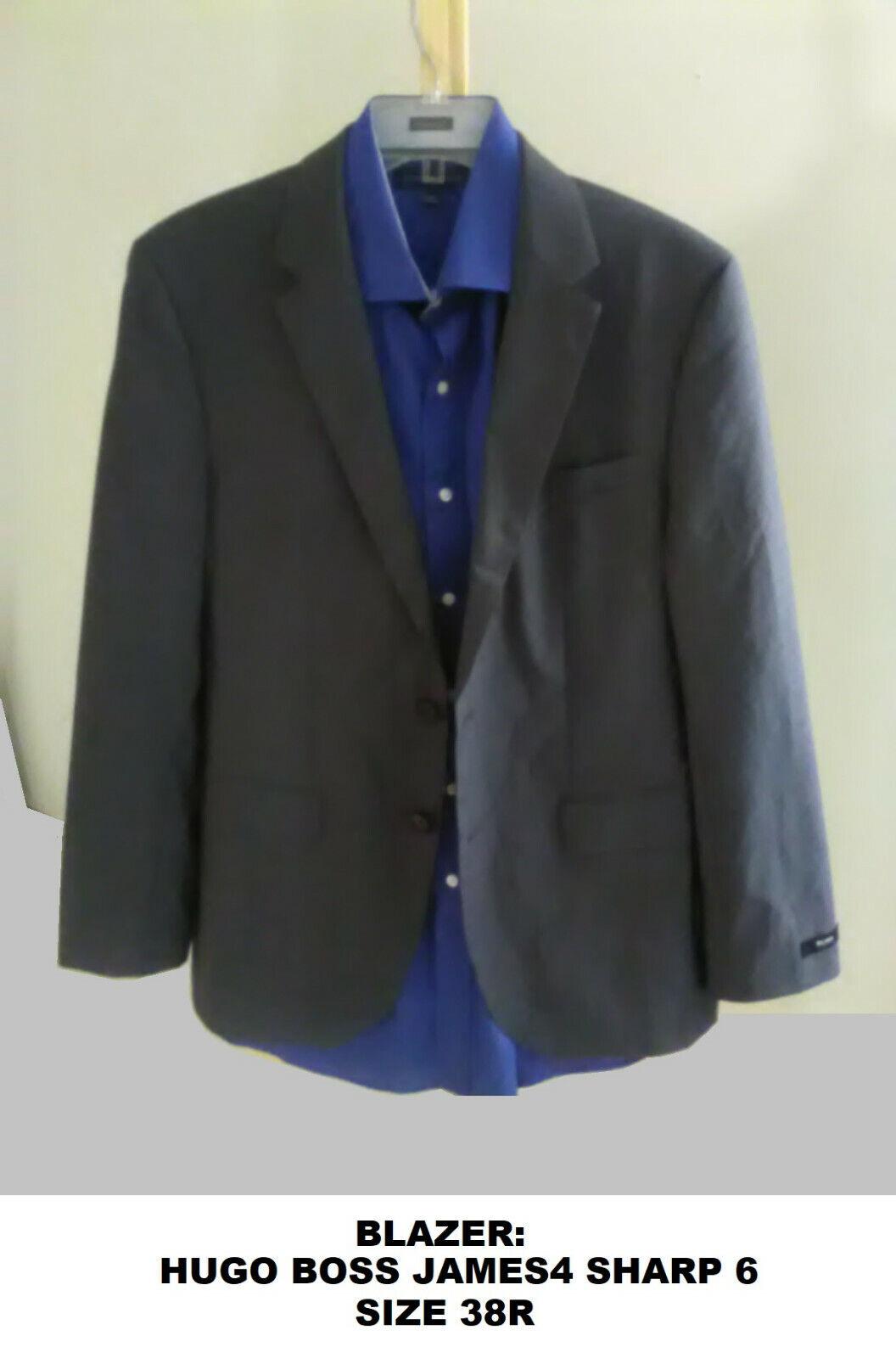 Men's Hugo Boss Sport Coat Blazer James Sharp 38R… - image 2