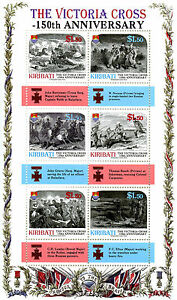 Kiribati 2007 MNH Victoria Cross 150th Anniversary 6v M/S Military Medals Stamps