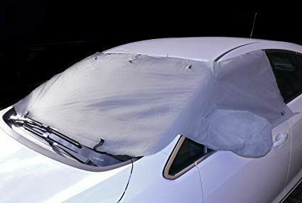 Windscreen /& Front Windows Frost Ice Protector Cover Fits Nissan Navara