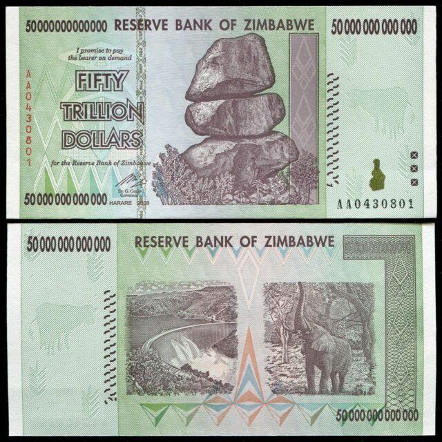 50 Trillion Dollar Banknote Unc