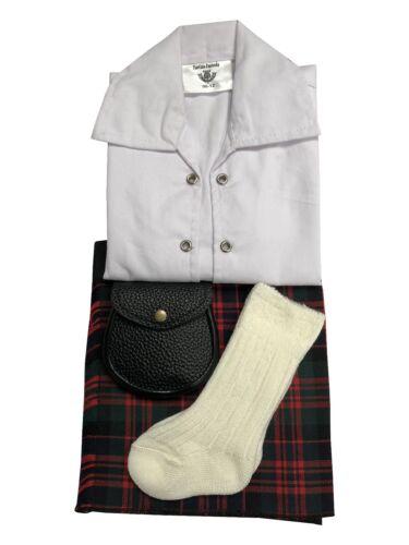 MacDonald Tartán Falda escocesa de bebé ajustable traje Sporran 0-24 meses Manguera