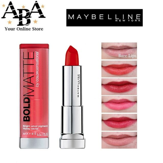 0570177d132 Maybelline Color Sensational Bold Matte Lipstick - Choose Your Shade Mat4  for sale online