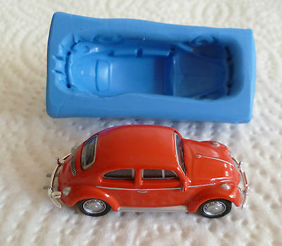 3D VW BEETLE SILICONE MOULD FOR CAKE TOPPERS CHOCOLATE CLAY ETC