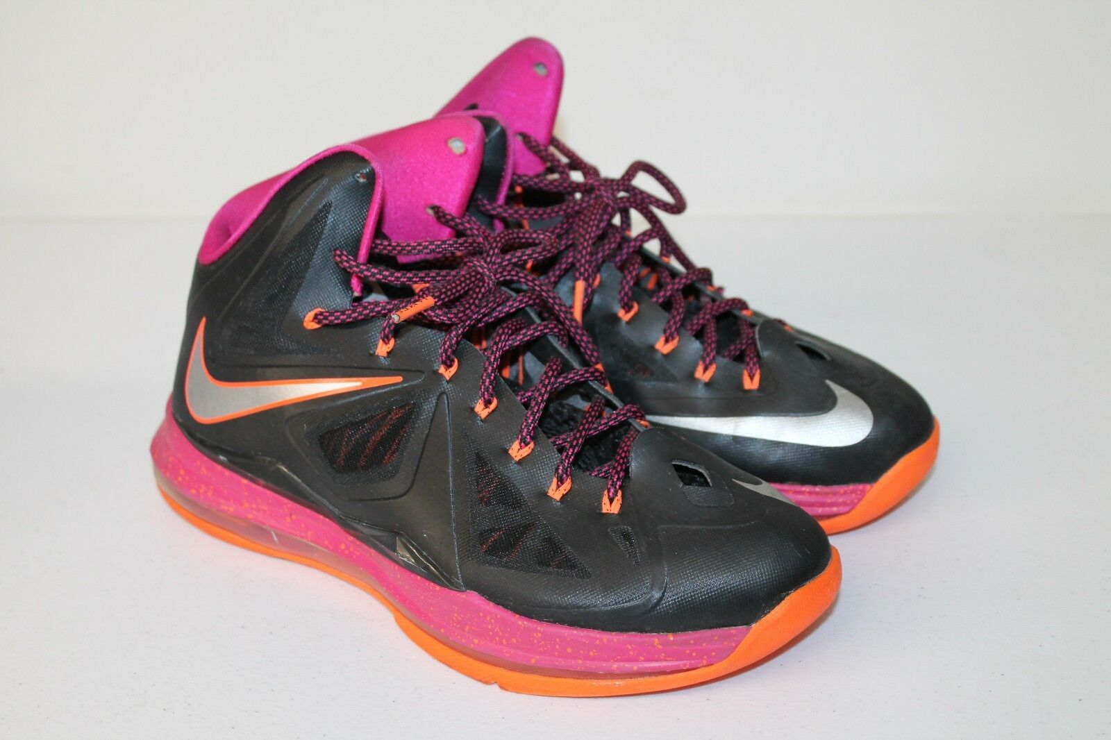 Nike LeBron 541100 005 Fireberry Orange Black Silver Mens 10