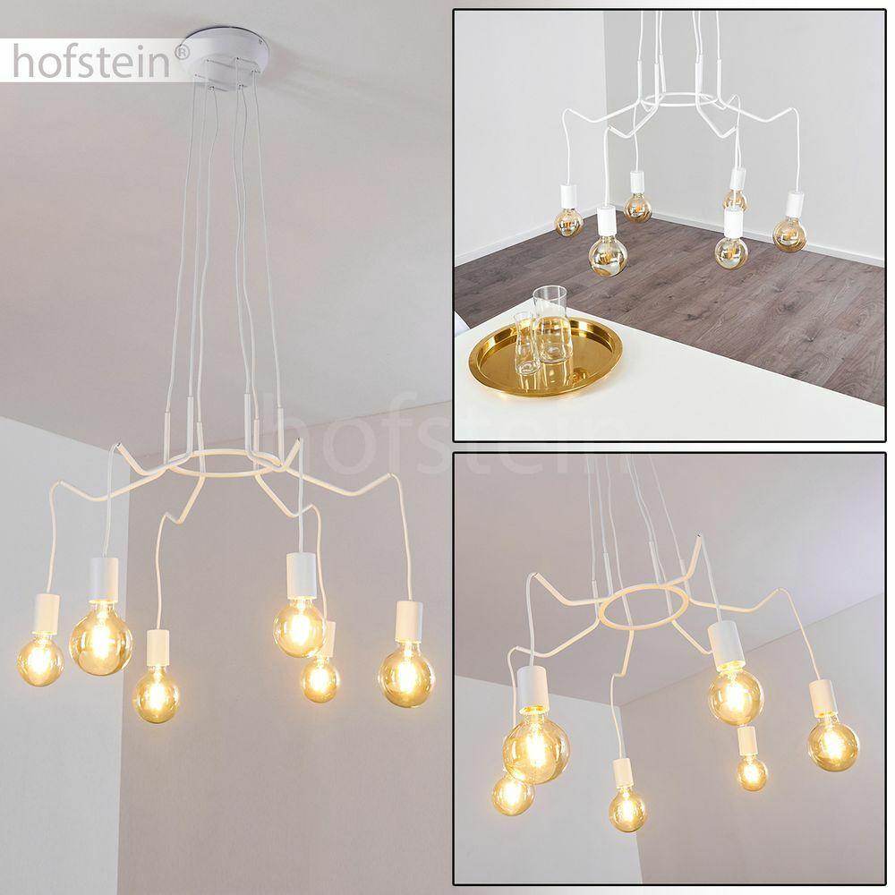 Blumenmuster Hänge Leuchte Schlaf Wohn Zimmer Raum Beleuchtung Pendel Lampe Weiß
