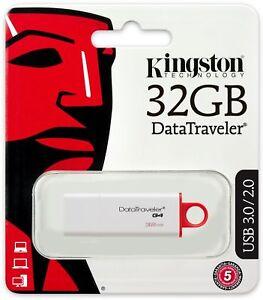 Kingston 32GB DataTraveler DT G4 USB 3.0 Flash Pen Key Drive Memory Stick Thumb