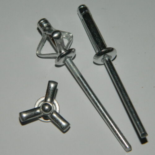 250 Stück Presslaschennieten 4,8x15,3 Alu//Alu Flachkopf  Presslaschnieten