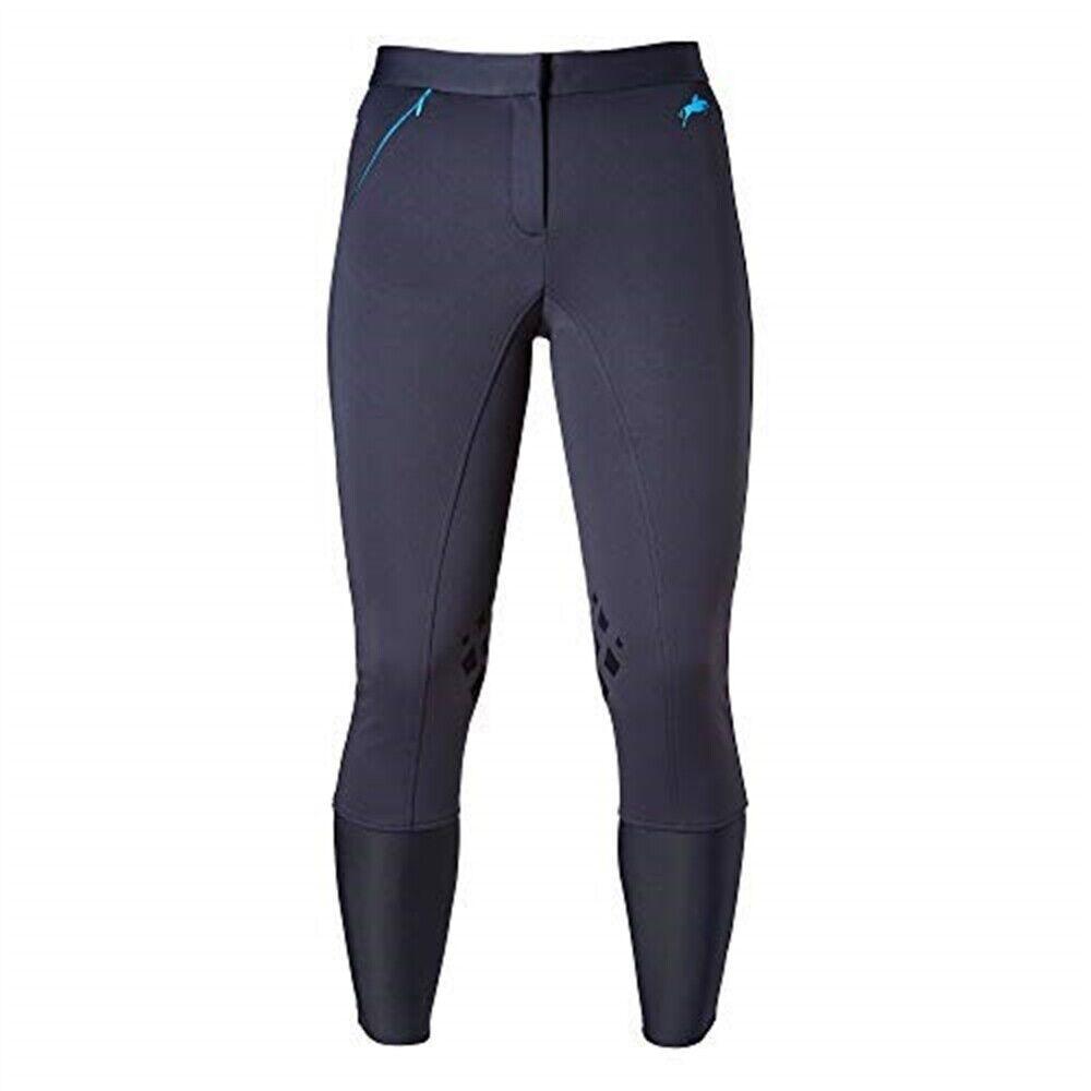 Harry Hall Tex Pantaloni da equitazione, Langley Softshell da donna blu scuro  30 REG