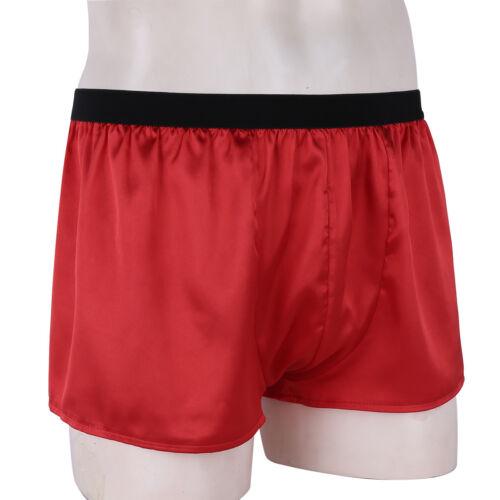 Men/'s Silk Satin Boxer Shorts Underpants Lounge Pants Sports Basic Casual Wear