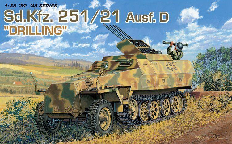 DRAGON 6217 1 35 Sd.Kfz.251 21 Ausf.D Drilling