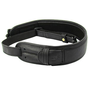 Tourbon-Leather-Gun-Sling-Bullets-Carry-Ammo-Belt-Rifle-Strap-w-Swivels-Shooting