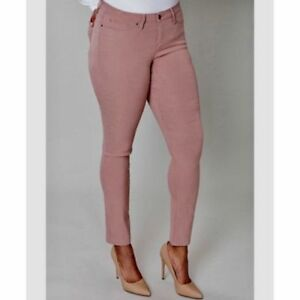 Details about LANE BRYANT 16 Mid Rise Super Stretch Skinny Ankle Jean Dusty Rose  Pink 16W 5c9dc3632