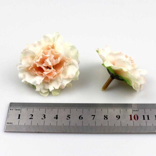 Seda Artificial Falso Flores Rosa poco Peonía cabezas a granel de boda fiesta casa decoración