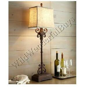 Image Is Loading Monterrey Table Lamp Rustic Brown 38 034 Buffet