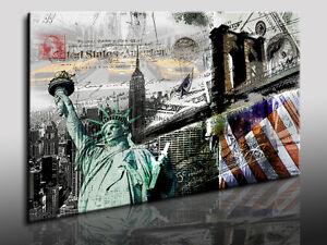 new york abstrakt fotoleinwand24 kunstdruck wandbild leinwandbild n4123 ebay. Black Bedroom Furniture Sets. Home Design Ideas
