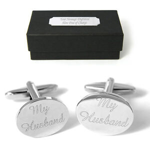 Select Gifts Cuff Links Wedding Cufflinks~Photograph Anniversar Engraved Personalised Box