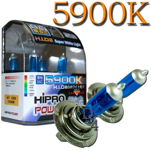 Low Beam H7 Super White 100W 5900K HID Xenon Halogen Headlight Bulbs