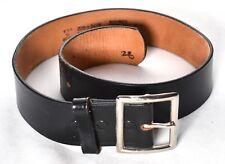 Police Black Genuine Top Grain Cowhide Leather Belt Size 28