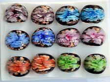 venetian 6PCS Charms 3D Summer Style Murano Glass Lampwork Rings Wholesale Lots