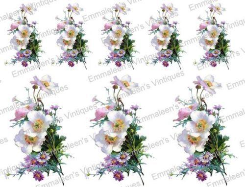 Vintage Image Shabby Victorian Flowers Floral Bouquet Waterslide Decals FL371