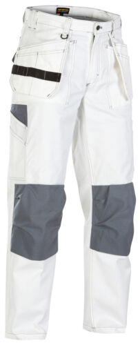 Blaklader White Painters Knee Pad Trousers with Nail Pockets CottonTwill -1531