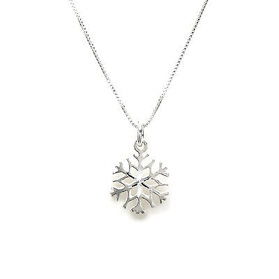 Snow Flake Snowflake 925 Sterling Silver Necklace Chain With Pendant 2259 Ebay