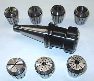 Spannzangenfutter-SK40-S20x2-7Spannzangen-ER40-Rl-max-8-m-Deckel-Fraesmaschine