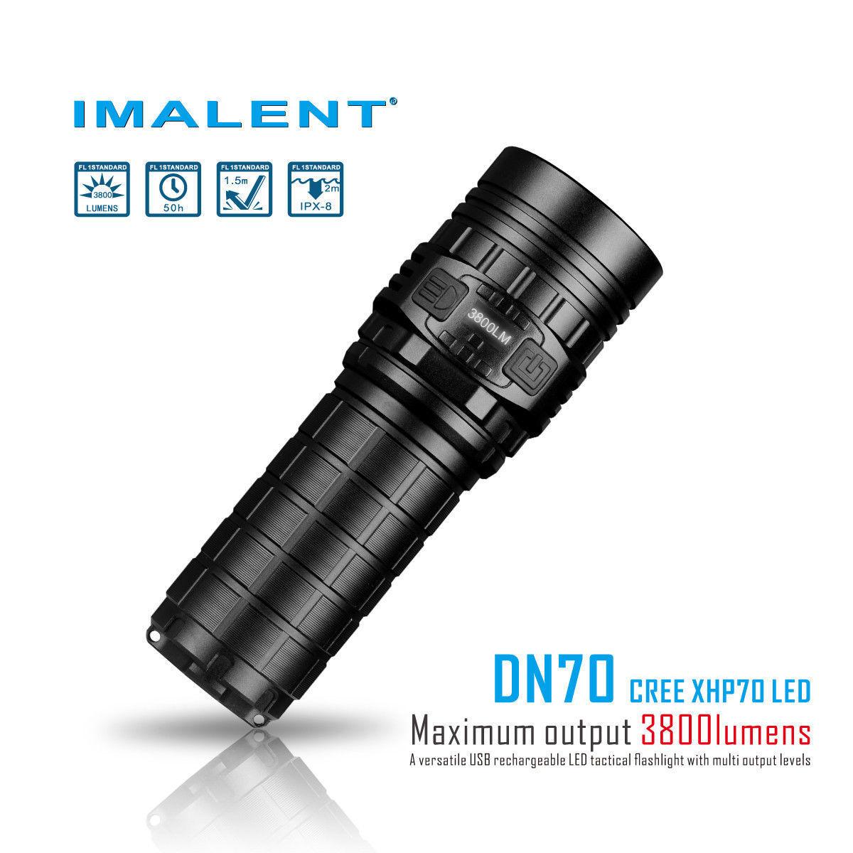 Imalent DN70 Cree XHP70 HI LED 3800 lumens USB Rechargeable  LED Flashlight  good price