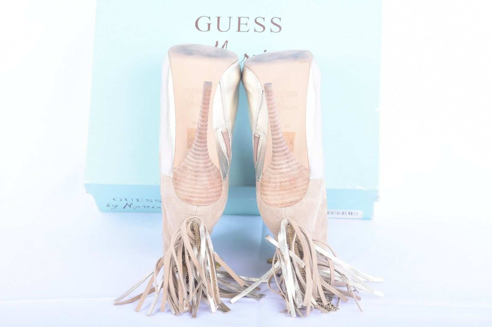 Used Guess High Heal Sandals gold Leather Leather Leather Size 36 US SELLER c026eb
