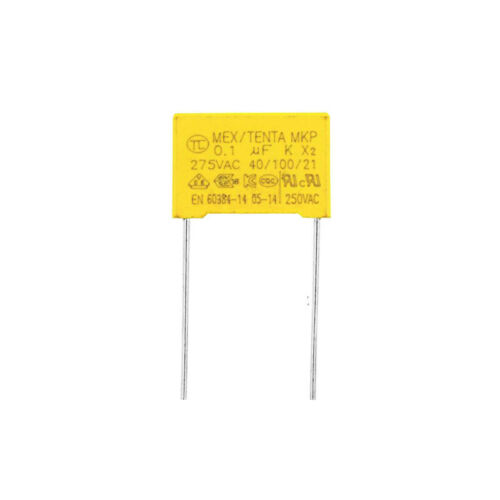 10pcs~100pcs 0.1UF 275VAC X2 Safety Capacitor 275V104K 15MM Pitch