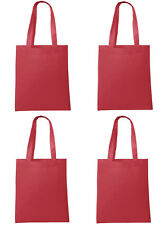 Qty 50 Promo Shopping Bag Folding Reusable Grocery Bags Convenient Tote Red BULK
