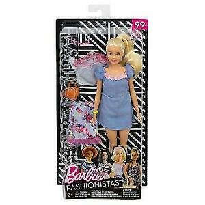 NEW 2018 Barbie Fashionista Sweet Bloom Doll Gray Floral Mesh Crop Top Clothes