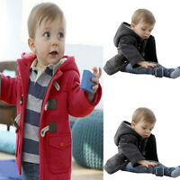 Child Baby Boys Winter Warm Thick Hooded Coat Jacket Snowsuit Skisuit Outerwear