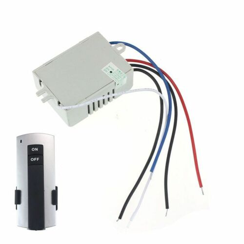 220V Wireless 1Way Light Remote Control Switch ON//OFF Anti-interference Hoc