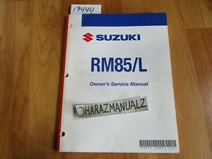 2008-SUZUKI-RM85-L-Owner-Owners-Owner-039-s-Service-Manual
