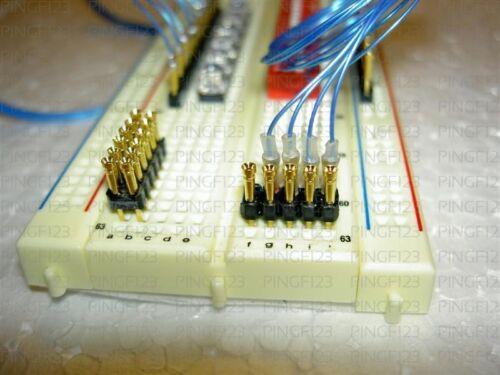 20 jumper interface pin header  for breadboard pcb