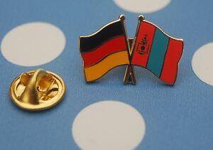 Freundschaftspin-Deutschland-Mongolei-Pin-Button-Badge-Anstecker-Anstecknadel-AS