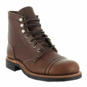 Red-Wing-Iron-Ranger-3365-3365-B-Chaussures-Femme-Bottes-Ambre