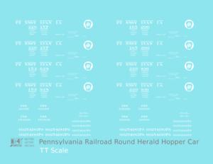 K4-TT-Decals-Pennsylvania-Railroad-PRR-Twin-Hopper-Car-White-Circle-Herald