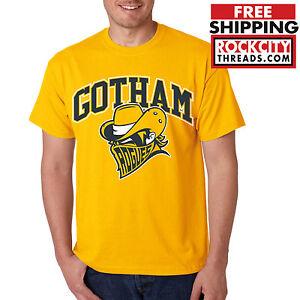 GOTHAM-CITY-ROGUES-GOLD-T-SHIRT-Batman-Shirt-Joker-DC-Tshirt-Comics-Dark-Knight