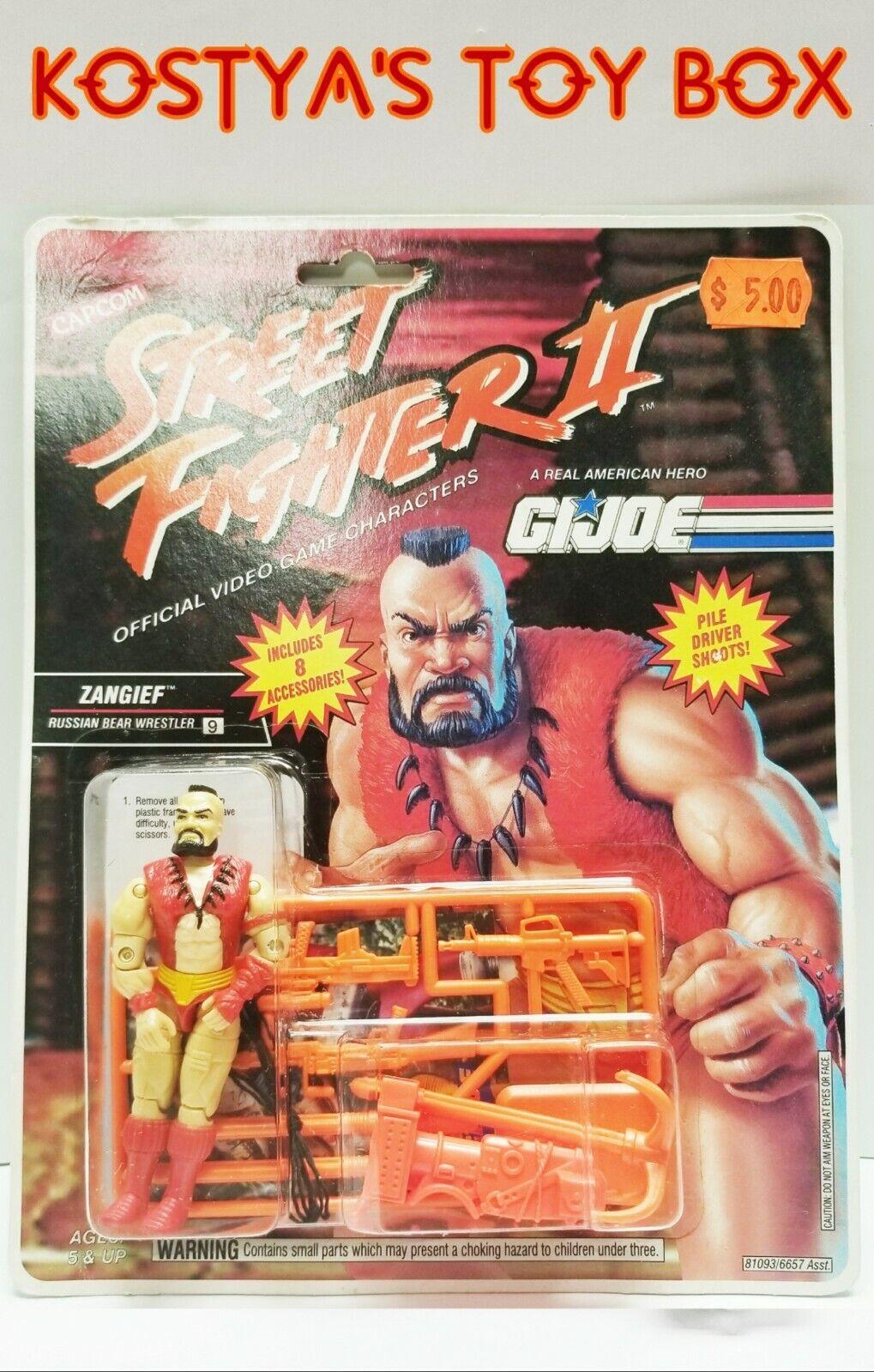 GI Joe ZANGIEF Street Fighter 2 1993 MOC Hasbro New Vintage Sealed Action Figure