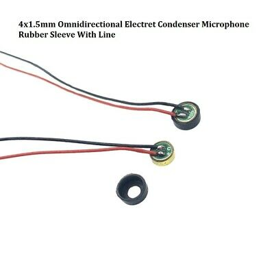 6022 6027 Omnidirectional Electret Condenser Microphone Rubber Sleeve With Line