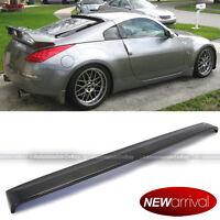 Jdm Real Carbon Fiber Rear Roof Wing Spoiler Visor For 03-08 Fairlady Z 350z