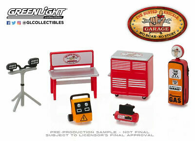 """/""""BUSTED KNUCKLE GARAGE/"""" SHOP TOOL ACCESSORIES 6 PC SET 1//64 GREENLIGHT 16020 B"""