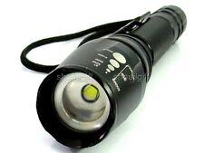 Variable Beam Focus Spot/Flood 1600 Lumen CREE XM-L T6 LED ZOOM Flashlight Torch
