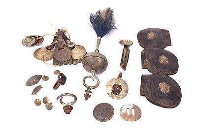 Bauer Gewissenhaft Antiker Pferdeschmuck Paradeschmuck Kopfschmuck Scheuklappen Anhänger Platten AusgewäHltes Material Antiquitäten & Kunst