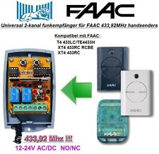 FAAC 433LC, TE4433H, XT4 433RC, RCBE kompatibel universal 2-kanal Funkempfänger