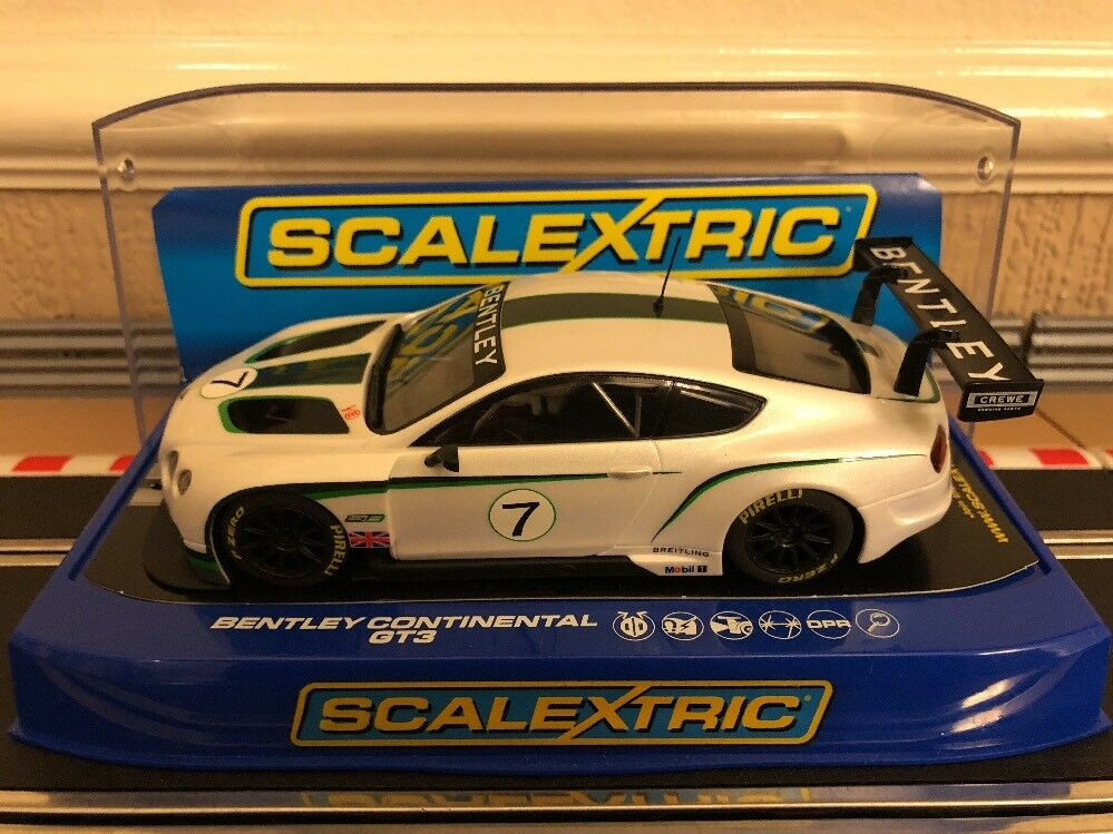 Scalextric C3514 Bentley Continental GT3 Brand New in Box Rare Car