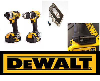 Dewalt belt hook clip /&  bit holder /& screws 18V 10.8v Impact Drill Driver XR !