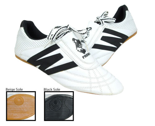 New PROWIN Martial Arts Taekwondo Shoes Gym Lightweight Sneakers White Black